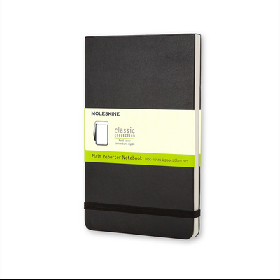 Moleskine Classic Pocket Plain Reporter Notebook, Black