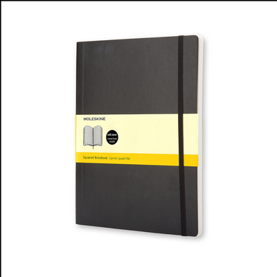 Moleskine Classic Notebook, XL, Squared, Black, Soft Cover