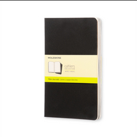 Moleskine Cahier Journal (Set of 3),Pocket, Plain, Black, Soft Cover
