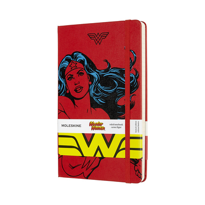 Moleskine Limited Edition Notebook Wonder Woman, Large, Ruled, Red, Hard Cover