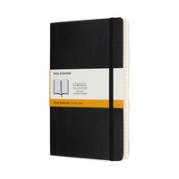 Moleskine Classic Notebook, Expanded, Large, Ruled, Black, Soft Cover
