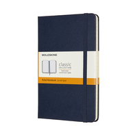 Moleskine Classic Notebook, Medium, Ruled, Sapphire Blue, Hard Cover