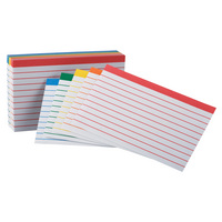 Oxford Color Coded Ruled Index Cards, 3 X 5, Assorted Colors, 100 Per Pack