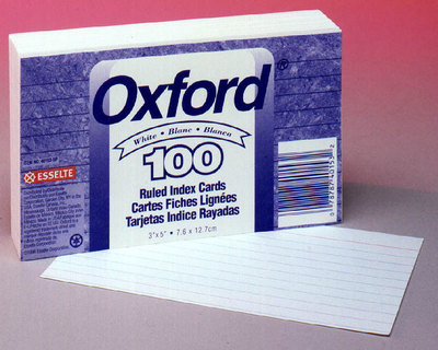 3X5 RULED INDEX CARDS