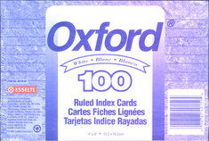 Oxford Ruled Index Cards 4 x 6, White, 100Pack