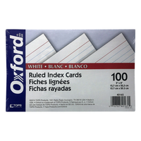 Oxford Ruled Index Cards, 5 x 8, White, 100 Per Pack