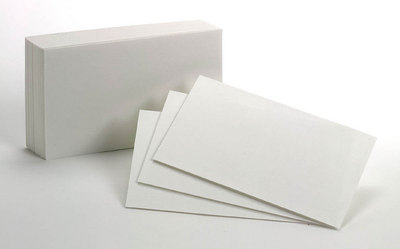 Oxford Blank Index Cards, 3 x 5, White, 100 Per Pack