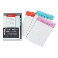 Oxford Index Card Page Markers, 3 x 5, Dot Grid Ruled, Assorted Color Tabs, 36 Per Pack