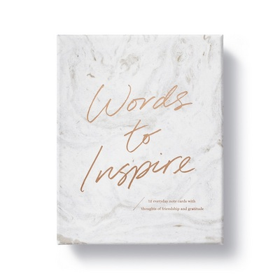 Words to Inspire Boxed Note Cards by Compendium Statements of Friendship and Gratitude