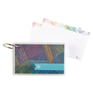 Erin Condren Woven Wonder Flashcards, Lined  50 Page Count, 3 x 5