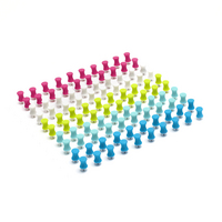 Poppin Modern Assorted Push Pins, Set of 100