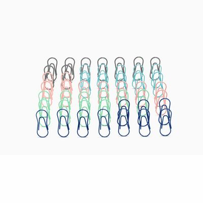 Poppin Modern Assorted, Paper Clips, Set of 50