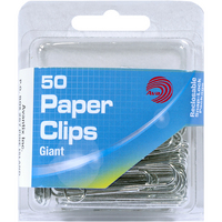 Ava Giant Paper Clips, 50 Count