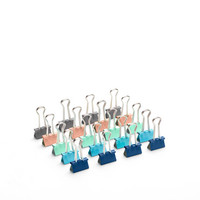 Poppin Modern Assorted Small Binder Clips, Set of 20