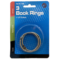 Avantix Book Rings 1 12 (3.8cm) 3count