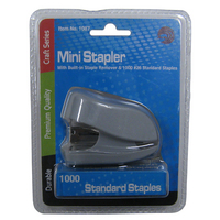 Avantix Mini Stapler with Builtin Staple Remover & 1,000 Standard Staples Set
