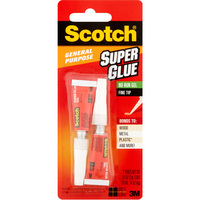 Scotch Super Glue Gel 0.07 Oz 2 Pack