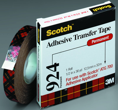 3M #924 Adhesive Transfer Tape 12 x 36 yds.
