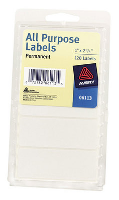 White Office Label