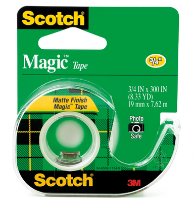 3M Scotch Magic Tape Dispensered Roll 34 x 300