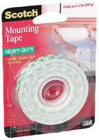 Scotch Indoor Mounting Tape, 12x75, White