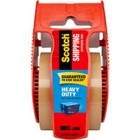 3M Scotch Heavy Duty Shipping Packaging Tape with Dispenser