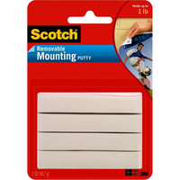 3M Scotch Removable Mounting Putty, 2 oz., White