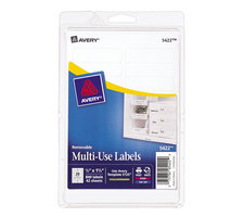 AVERY WHITE REMOVABLE LABELS RECTANGULAR