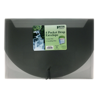 Better Office Products 4Pocket Drop Envelope, Letter Size, Assorted Colors