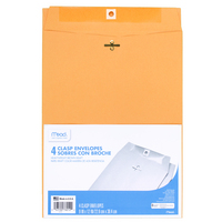Mead Clasp Envelopes, 9 x 12, Brown Kraft, 4 Count