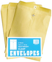 Paper World Clasp Envelopes 10 x 13 3Pack