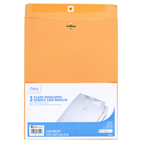 Mead Clasp Envelopes, 10 x 13 Brown Kraft, 3 Count