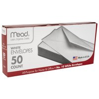 Mead #10 Envelopes, 4 14 x 9 12, White, 50 Count