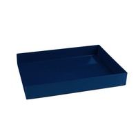 Poppin Single Letter Tray, Navy