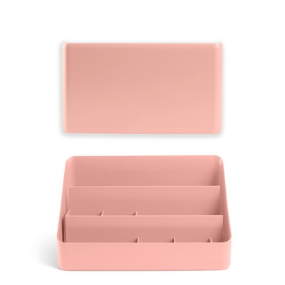 Poppin Wall and Desk Organizer Set, Blush