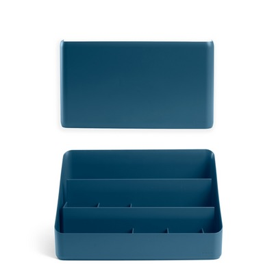 Poppin Wall and Desk Organizer Set, Slate Blue