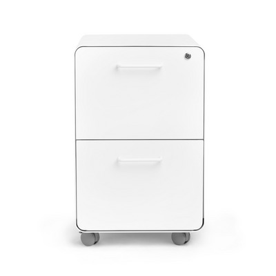 Poppin White Stow 2Drawer File Cabinet