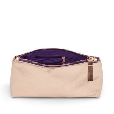 Poppin Copper  Purple Medium Accessory Pouch