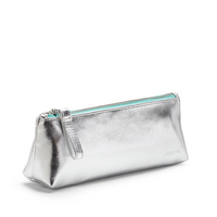 Poppin Pencil Pouch, Silver