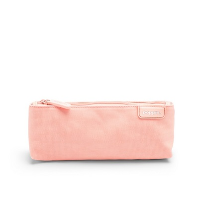 Poppin Blush  Light Gray Pencil Pouch