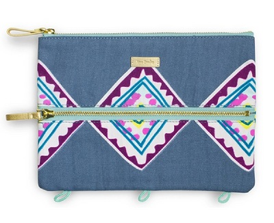 Vera Bradley Pencil Pouch, Painted Medallions