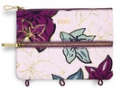 Vera Bradley Pencil Pouch, Falling Flowers Neutral