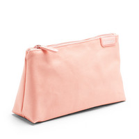 Poppin Blush  Light Gray Medium Accessory Pouch