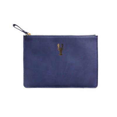 Midnight Blue Lobster Luxury Soft Touch Pouch