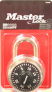 Master Lock 1500D 178in Wide Combination Dial Padlock SilverBlack