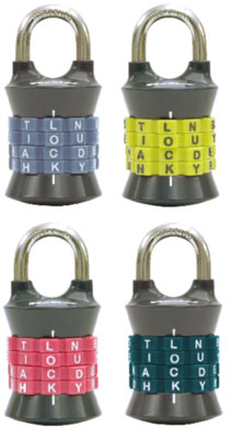 Set Own Combo Lock w Letters