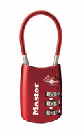 Master Lock 4688D Combination TSAAccepted Luggage Lock with Flexible Shackle Assorted Colors