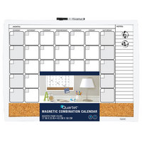 Quartet 3In1 Calendar Combination Board 17 x 23 Curved Frame Assorted Colors