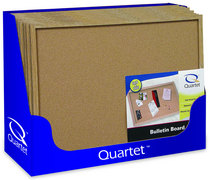 Quartet Cork Bulletin Board, 17 x 23 Oak Finish Frame