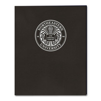 Foil  imprinted Embossed Paper 2  pocket Portfolio, 11.75 x 9.5